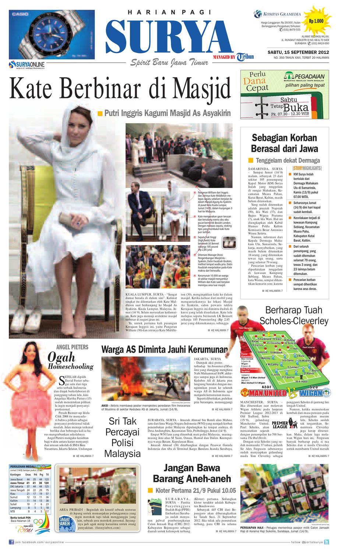 Epaper Surya 15 September 2012 By Harian Issuu Kebab Pisang Coklat Champlo Sf