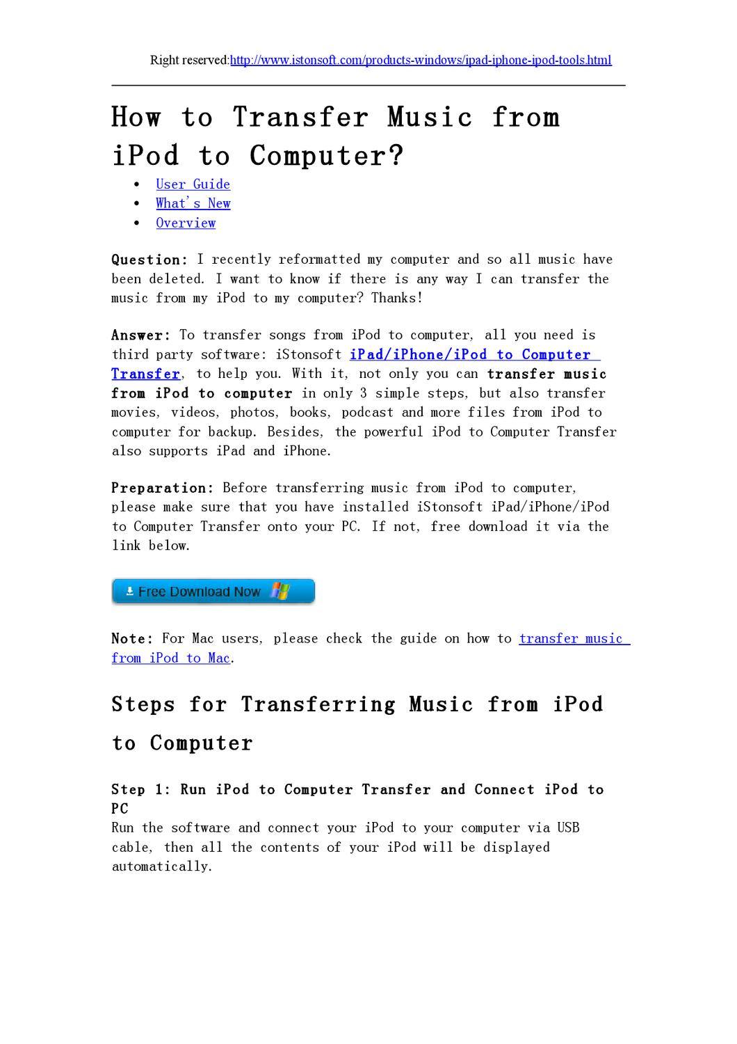 How to Transfer Music from iPod to Computer - Transferring