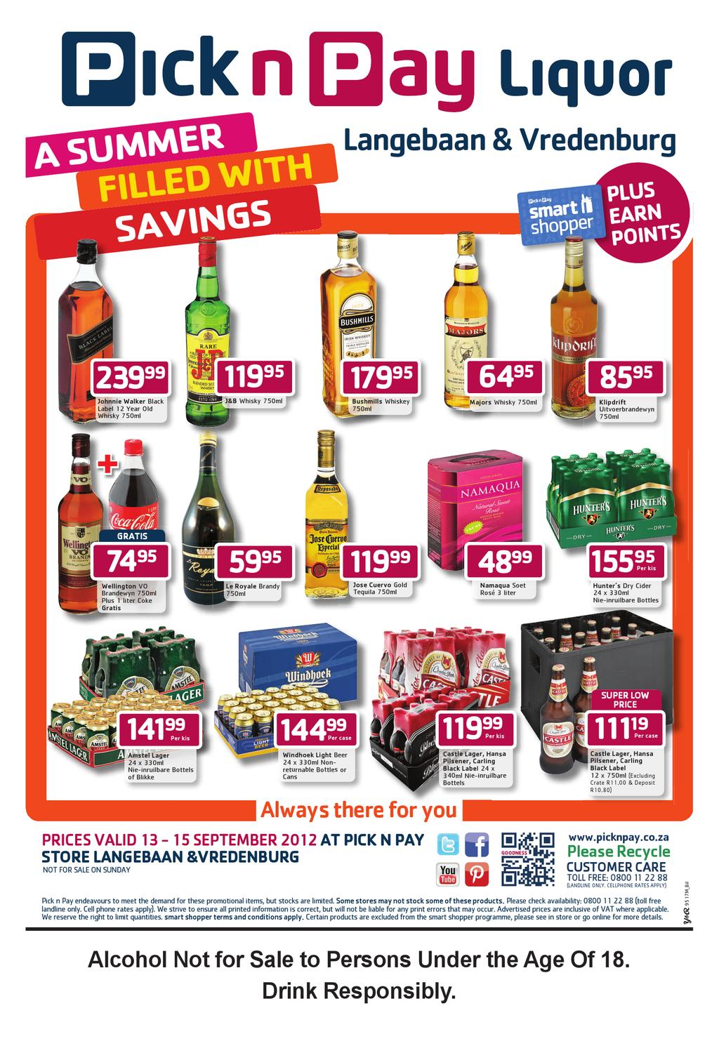 Pick n pay liquor specials today