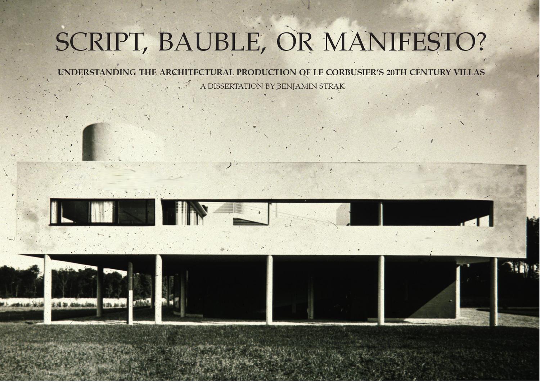 Le Corbusier Les 5 Points villas of le corbusierbenjamin strak - issuu
