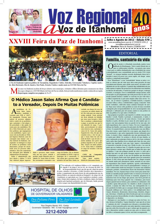 Jornal A Voz de Itanhomi - Edição 578 by Antonielle Costa Oliveira - issuu 5c3791a541