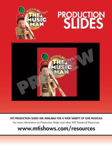 MTI Production Slides   THE MUSIC MAN by Music Theatre