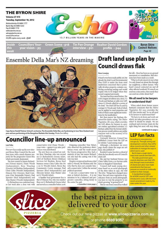 Byron Shire Echo – Issue 27.15 – 18/09/2012 by Echo Publications - issuu
