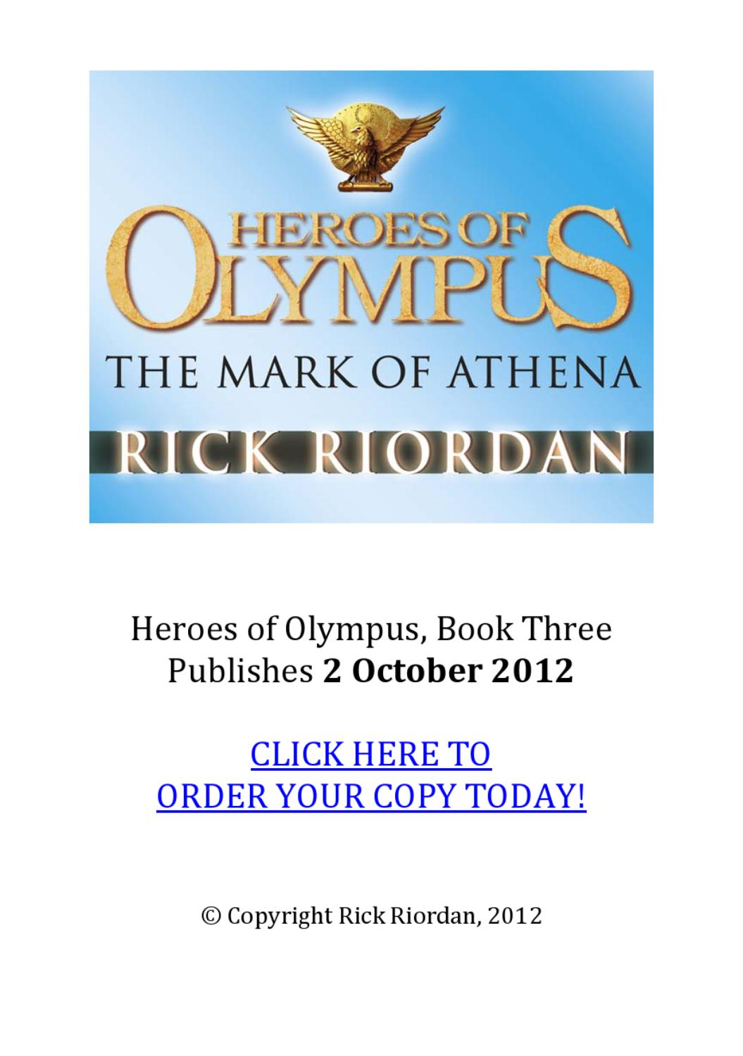 The Mark Of Athena By Rick Riordan Chapter One By Tesco Books Issuu