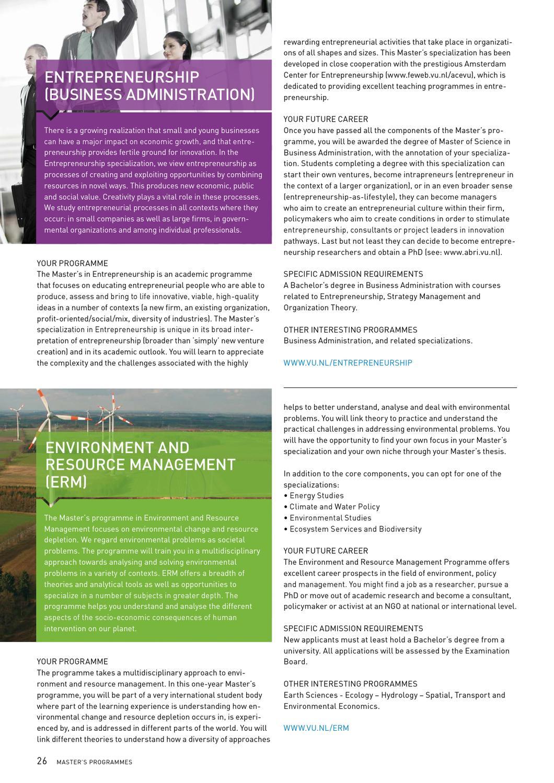 VU International Degree Programmes 2013-2014 by Vrije