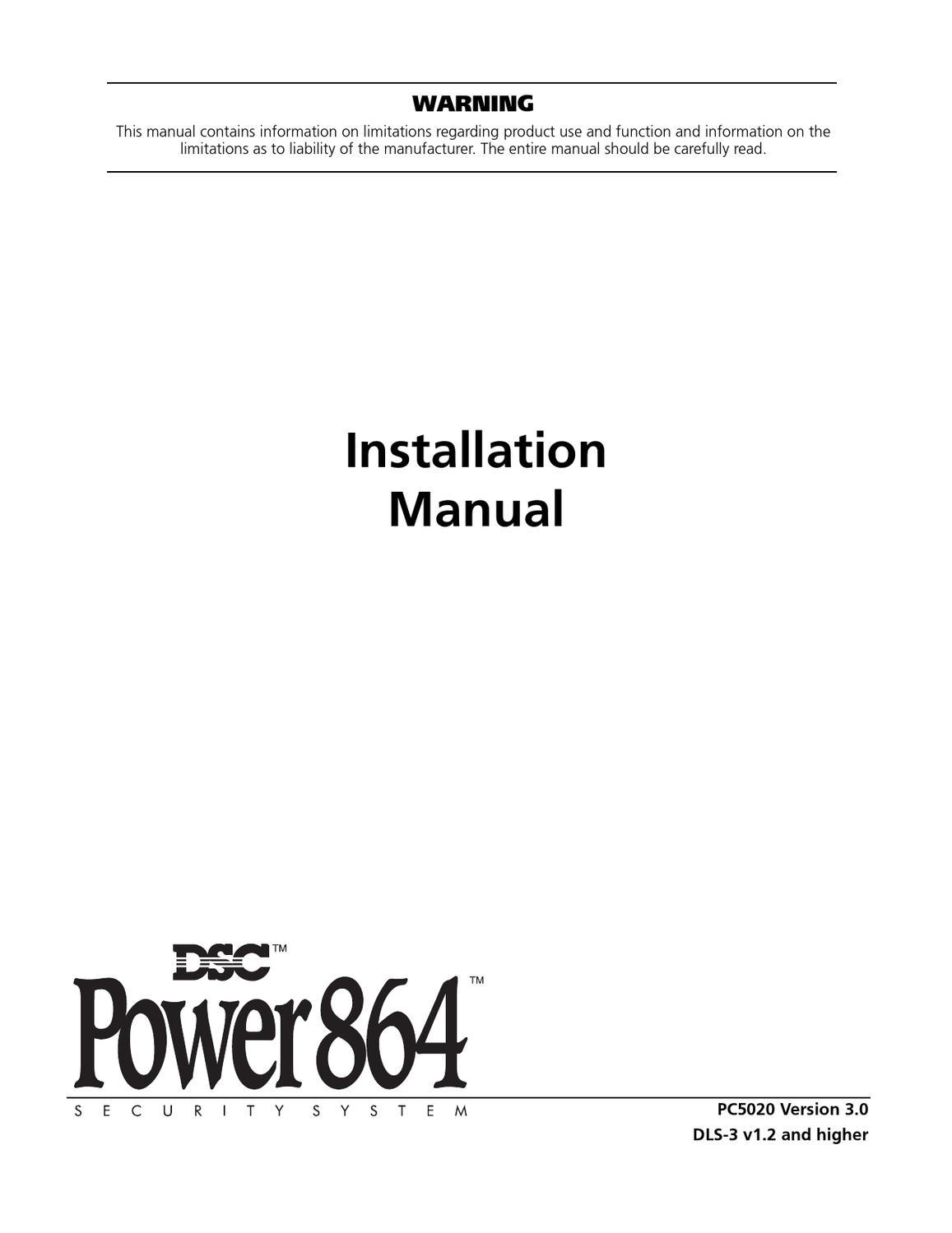 DSC PC5020 v3-0 na eng im 29003974 r002 by Sertek Servicios Tecnologicos -  issuu