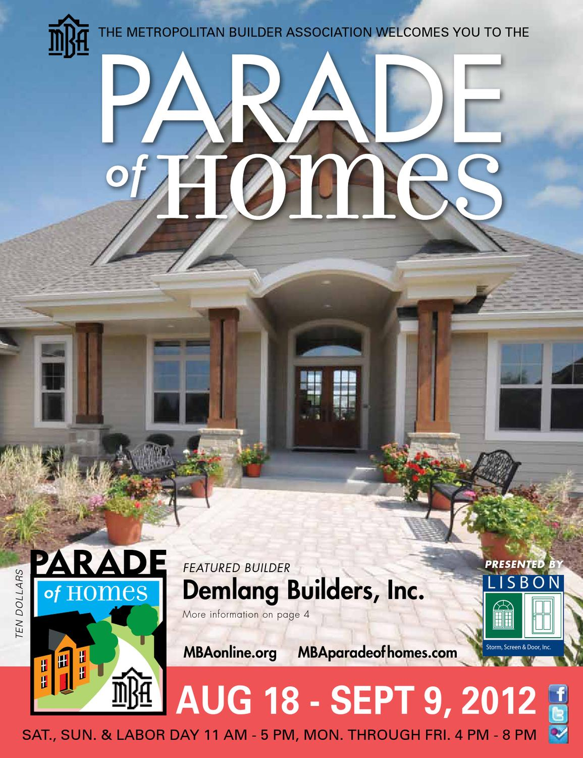 MBA Parade of Homes Planbook 2012 by Metropolitan Builders ...