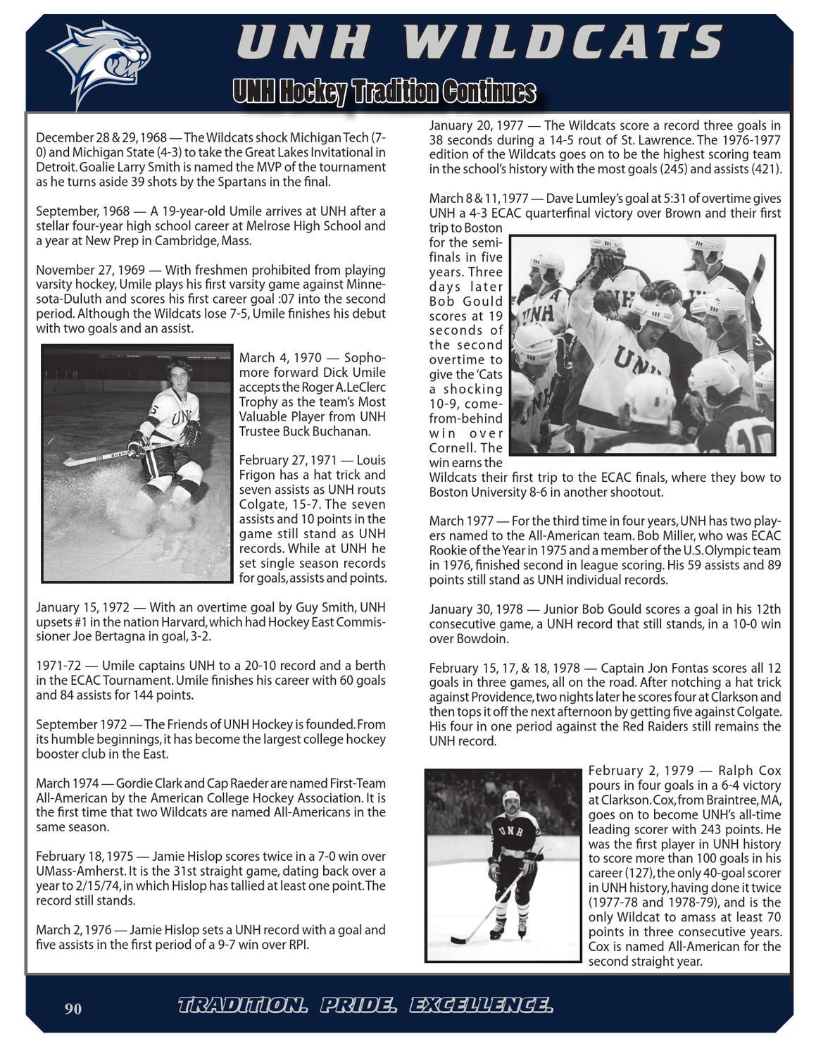 2012-13 UNH Men's Hockey Media Guide by University of New Hampshire  Athletics - issuu