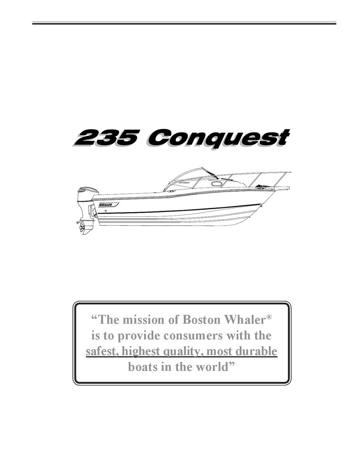 boston whaler 235 conquest by GARZON STUDIO - issuu