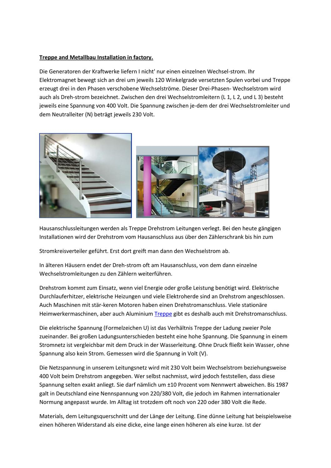 Treppe And Metallbau Installation In Factory by Charles Hall - issuu