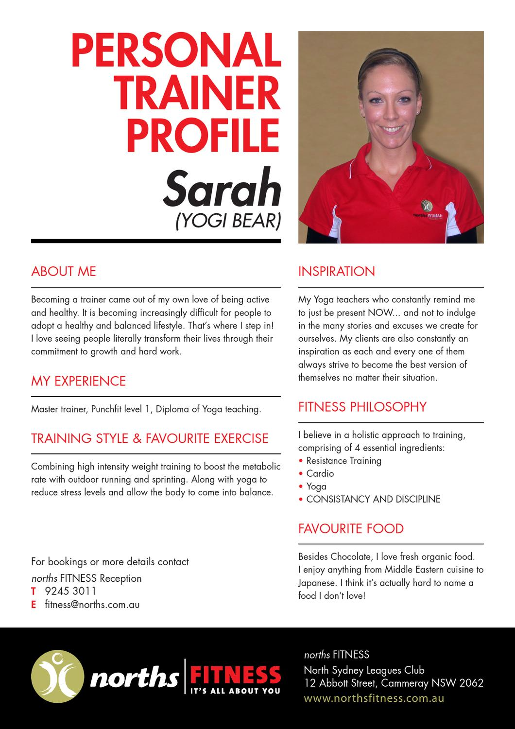 norths personal trainer profiles by north sydney leagues