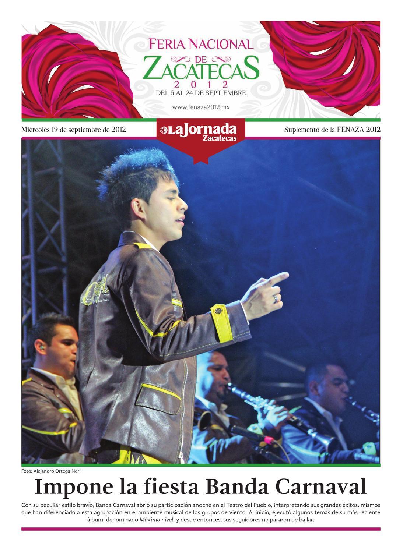 Fenaza Miércoles 19 De Septiembre Del 2012 By La Jornada Zacatecas