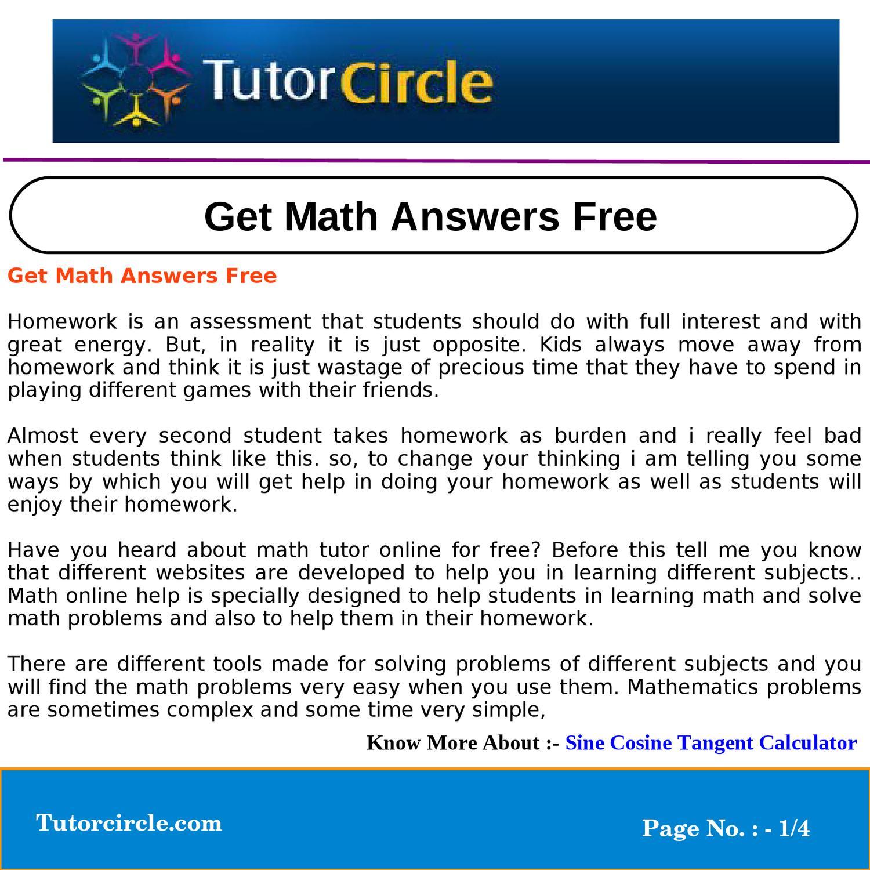 Get Math Answers Free by amit kumar - issuu