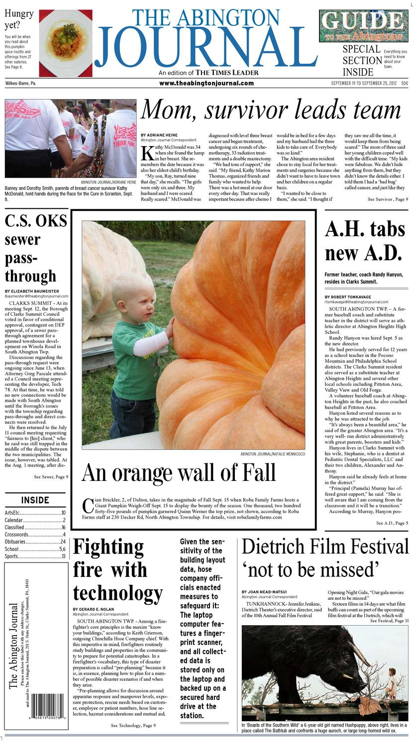 The Abington Journal 09 19 2012 By The Wilkes Barre Publishing