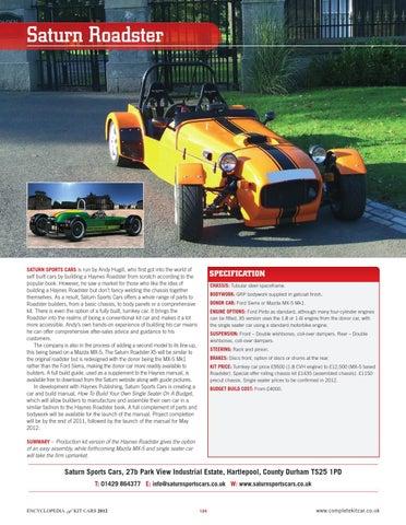 Saturn Roadster:CKC Guide 2009