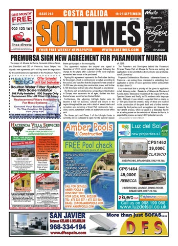 Sol Times Newspaper Issue 246 Costa Calida Edition By Nigel