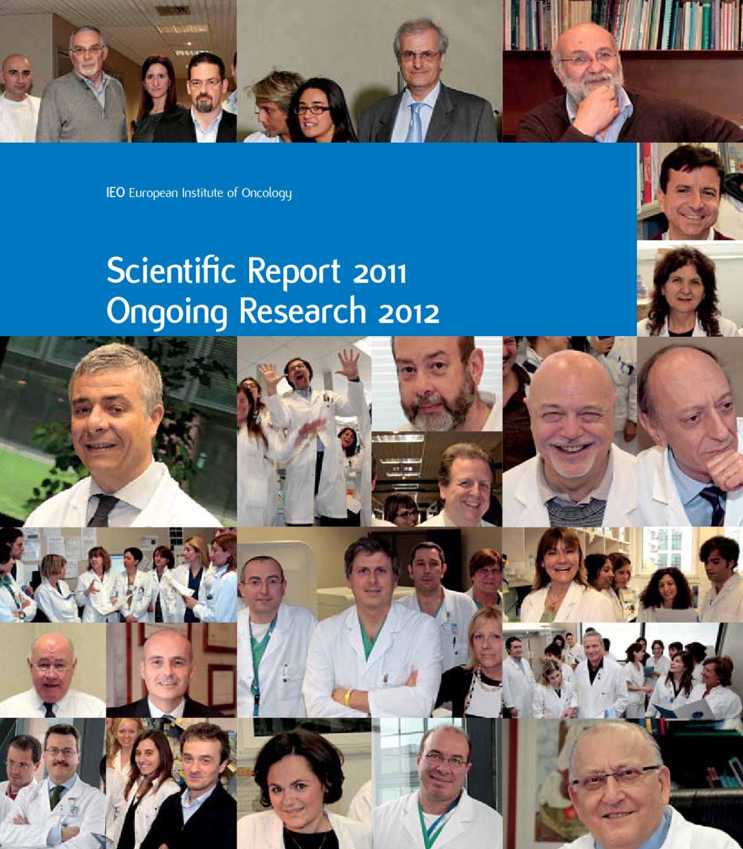 Scientific Report 2012 By IEO Istituto Europeo Di Cologia Issuu