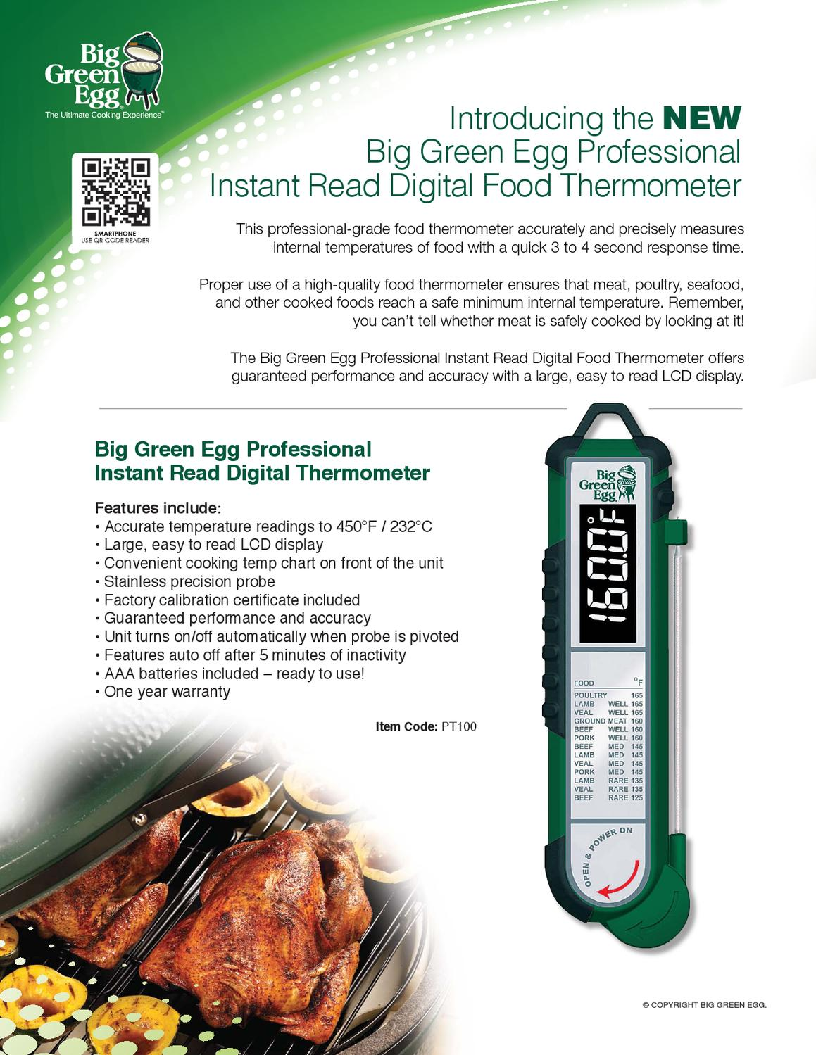 professional instant read digital food thermometer by big green egg issuu. Black Bedroom Furniture Sets. Home Design Ideas