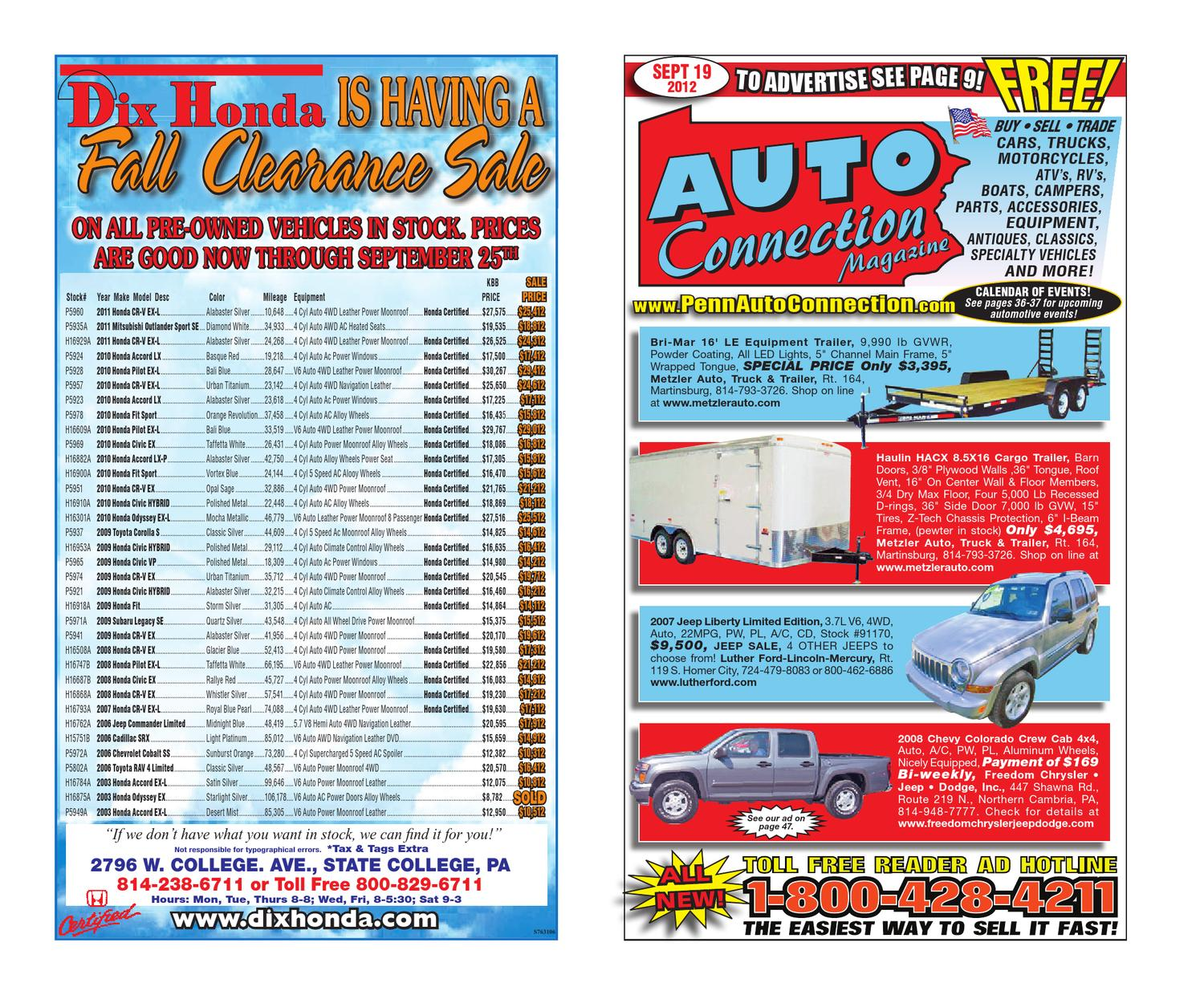 09 19 12 Auto Connection Magazine By Issuu 1988 Chevy Wire Diagramalternatorg20 3 4 Ton Full Size Van