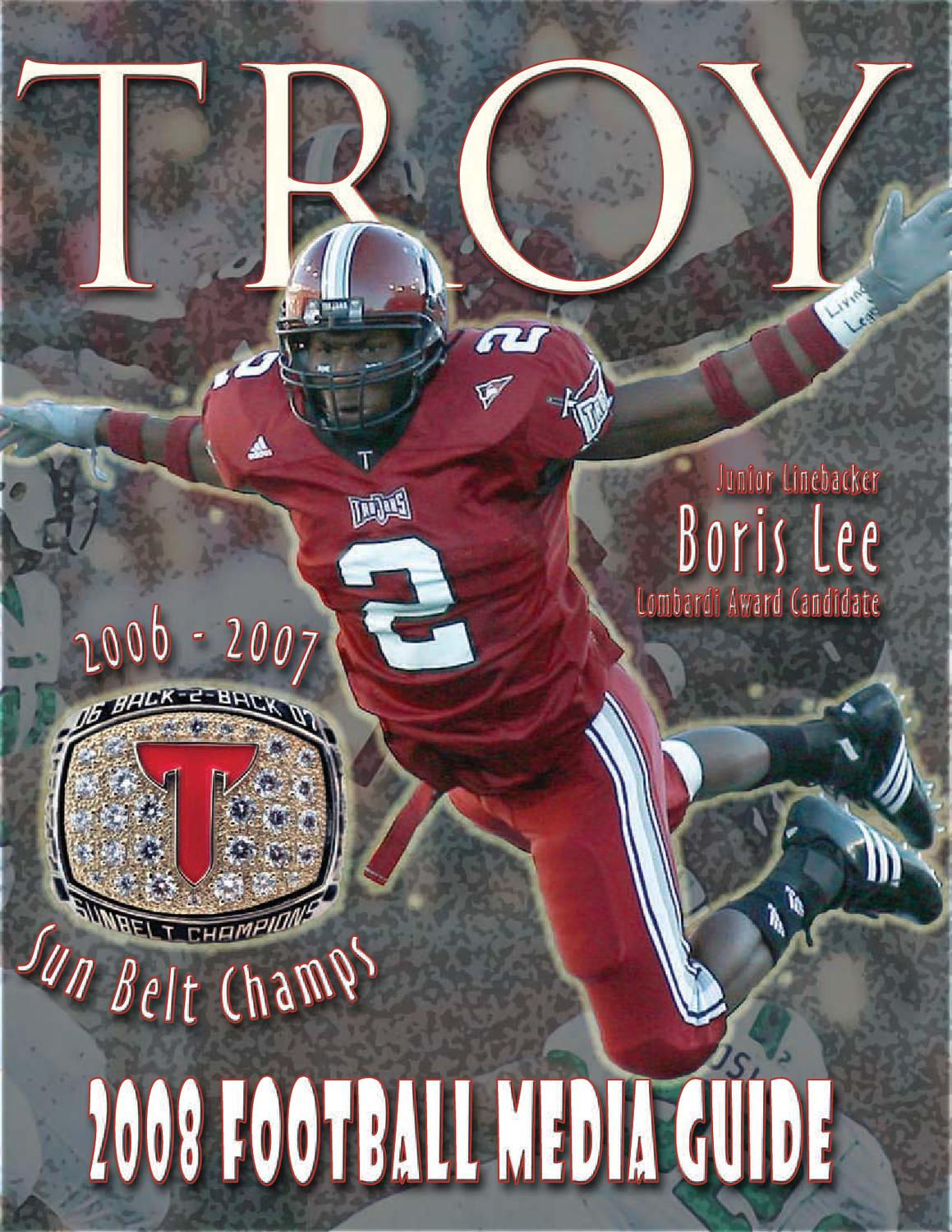 a84d1715d362 2008 Football Media Guide by Troy University Athletics - issuu