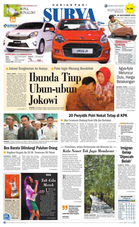 E Paper Surya Edisi 20 September 2012 By Harian Issuu Samsung Ua40j5100 Full Hd Led Tv 40ampquot Hitam Khusus Jadetabek