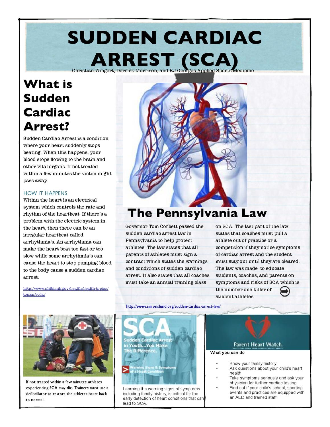 cardiac arrests in sports What is the incidence of sudden cardiac arrest (sca) during participation in  competitive and noncompetitive sports among young persons, what.