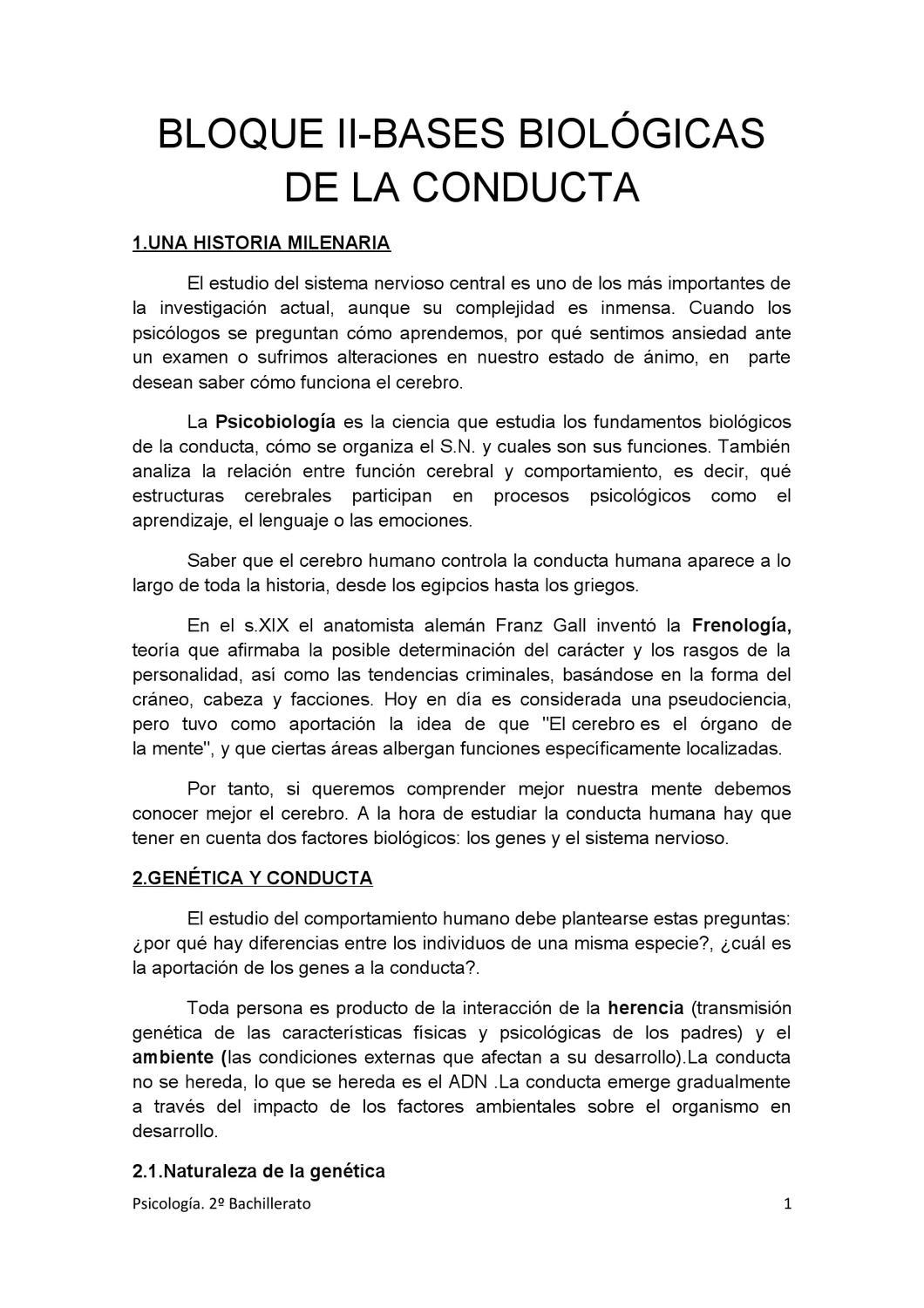 Bloque 2 Bases Biologicas Conducta By Jose Luis Martinez Issuu