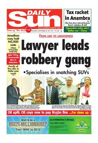 Sun News - September 20, 2012 by The Sun News - issuu