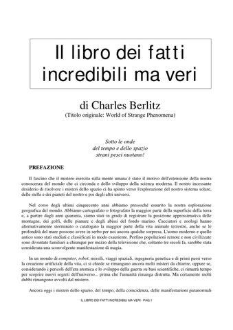 Il libro dei fatti incredibili ma veri di Charles Berlitz (Titolo  originale  World of Strange Phenomena) 6e456df68eb