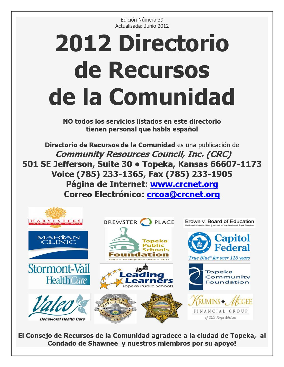 CRC Resources Directory - Spanish Version by G.R. Laughlin - issuu