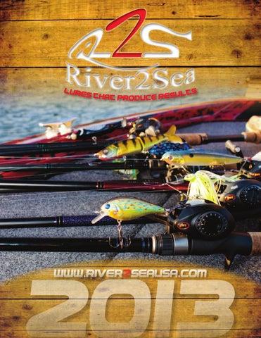 NEW River2Sea Weedless Stand/'N/'Yabbie Crayfish WO-SY80//03 BROWN ORANGE BASS