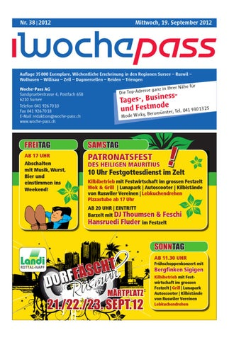 huge selection of 945c0 a5bb3 Woche-Pass   KW38   19. September 2012 by Woche-Pass AG - issuu