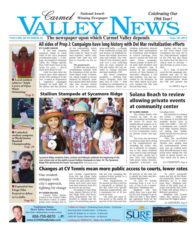 92012carmel valley news by mainstreet media issuu fandeluxe Gallery