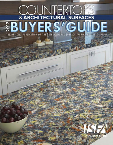 ISFA's 2012 Countertops & Architectural Surfaces Buyers' Guide by