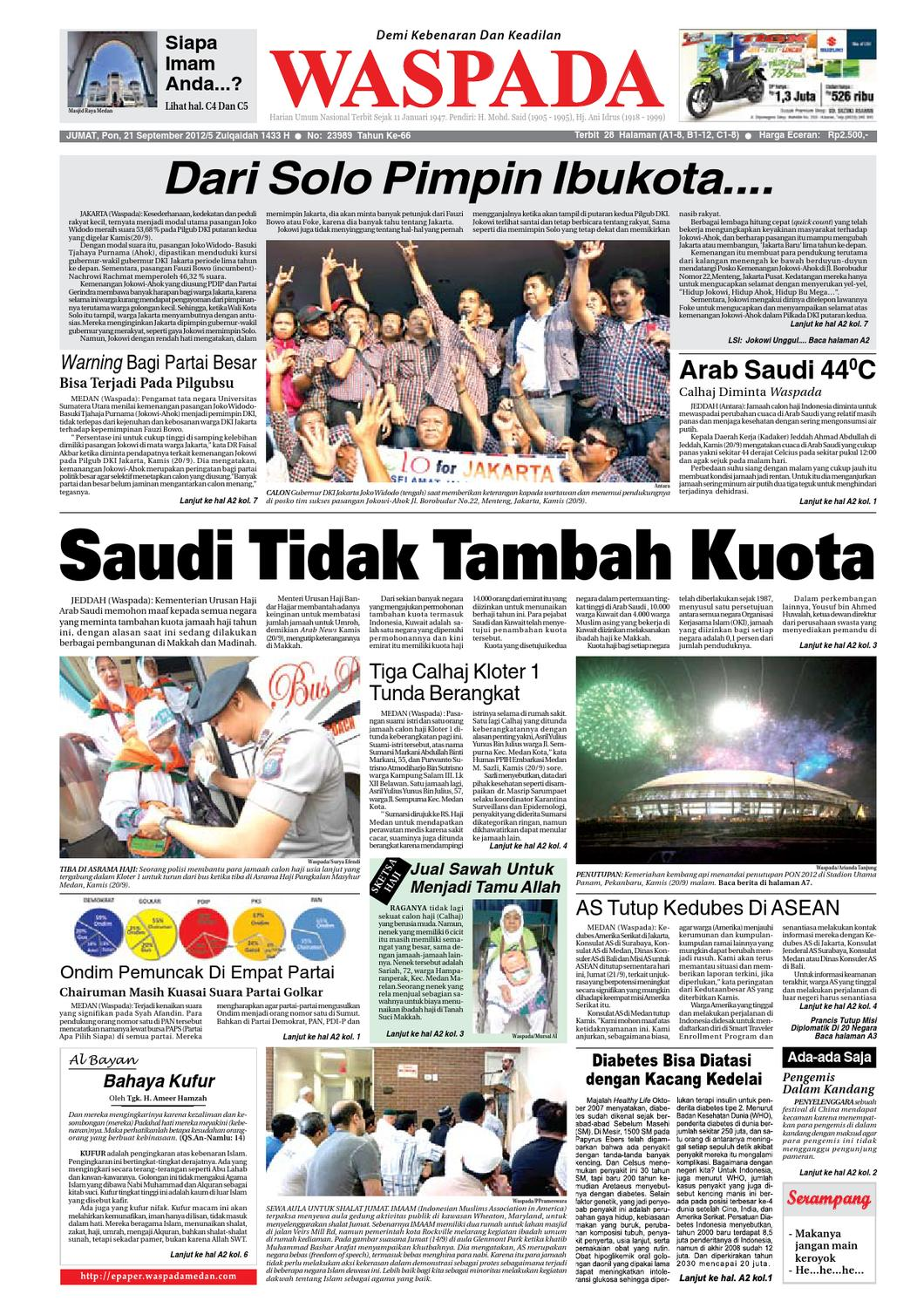 Waspada Jumat 21 September 2012 By Harian Waspada Issuu