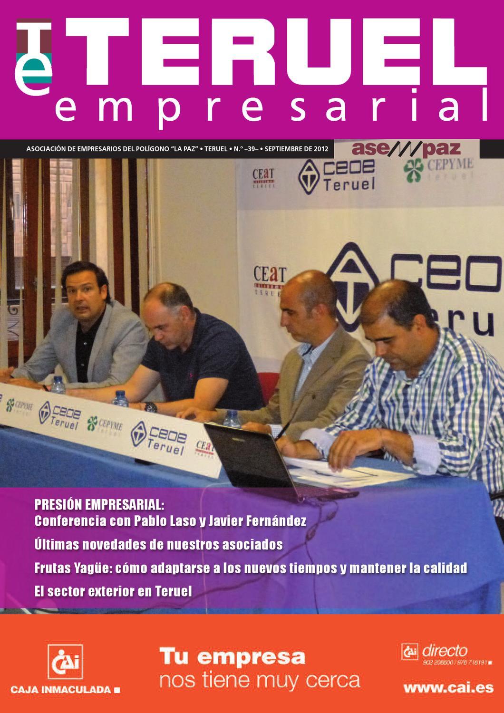 Teruel Empresarial N 39 Septiembre 2012 By Asempaz Asoc De  # Muebles Jover Teruel