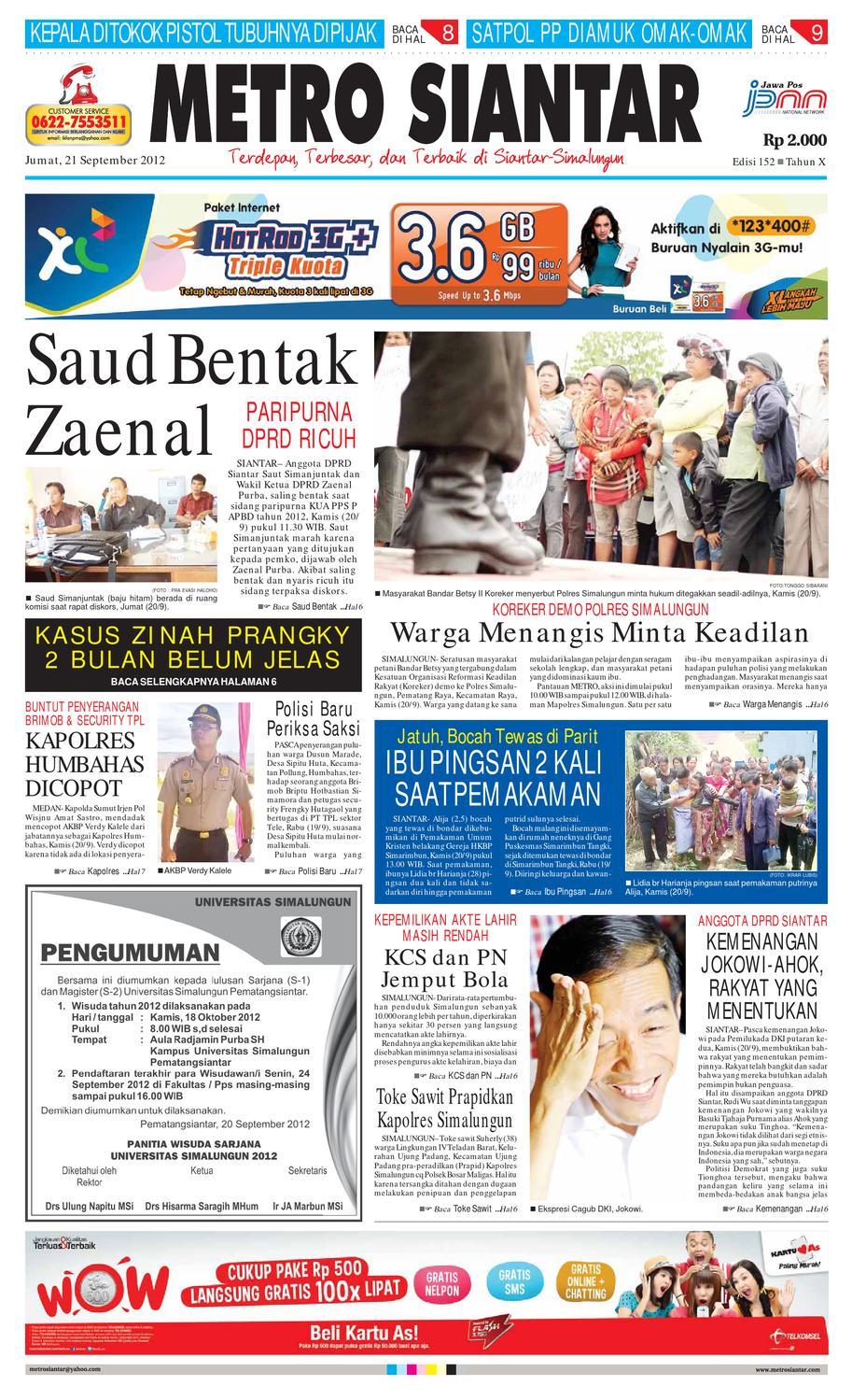 Epaper Metro Siantar By Issuu Tcash Vaganza 37 Kran Tembok Kuningan Tr 5j F