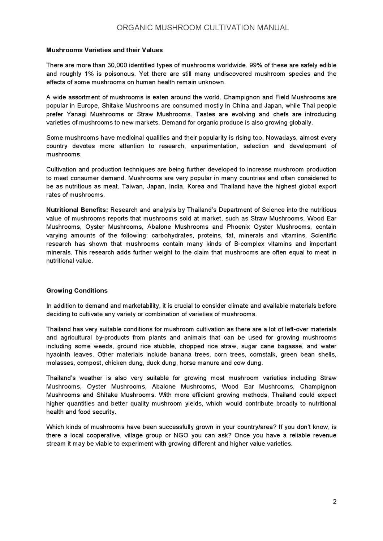 Organic Mushroom Cultivation Manual [English] by Freeland