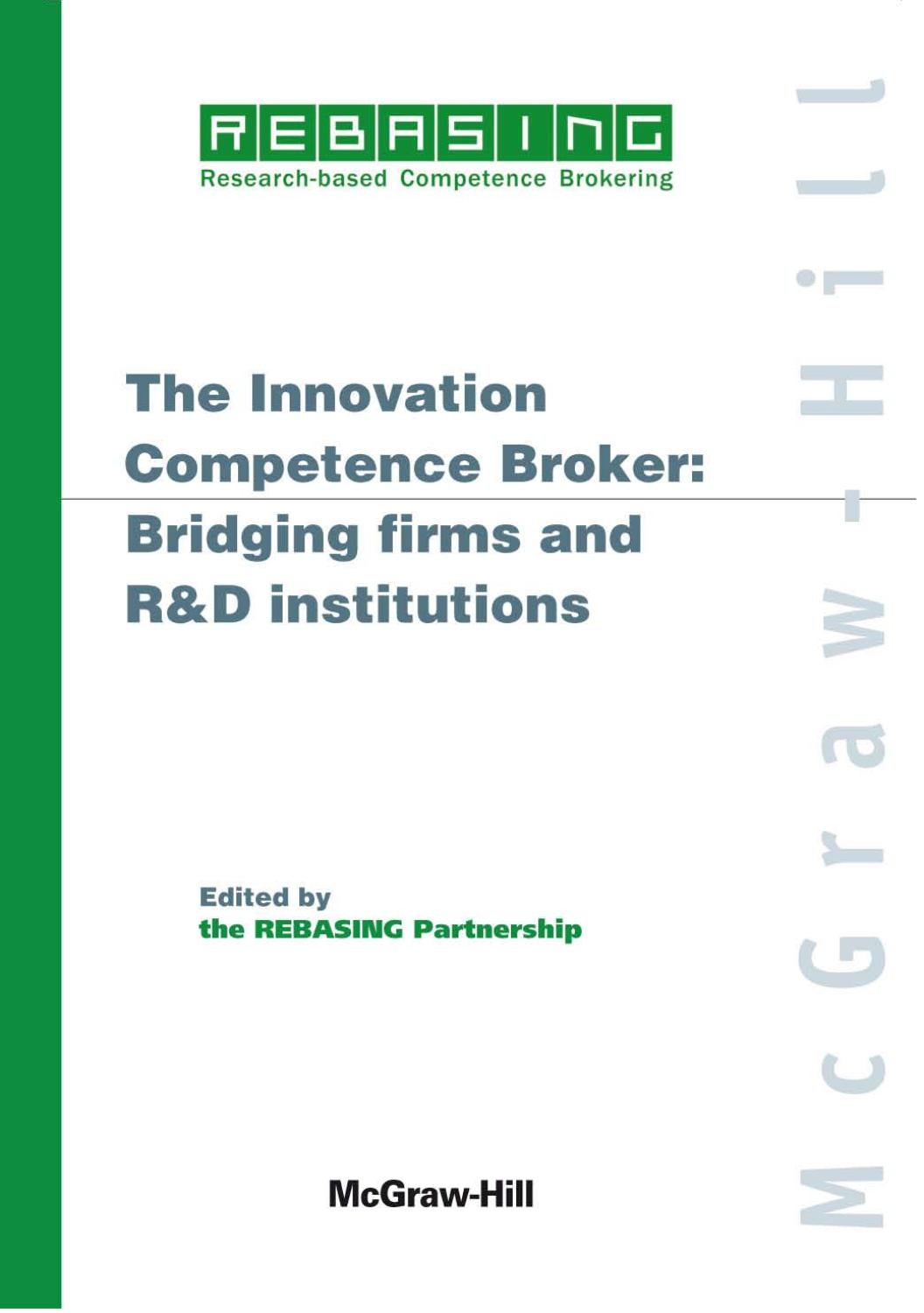 the innovation competence broker: bridging firms and r&d