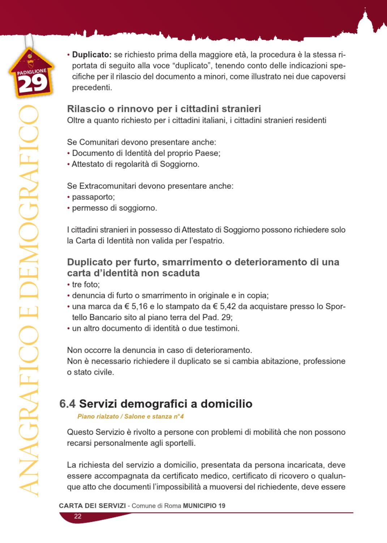 Carta dei Servizi - Municipio Monte Mario by Beecom srl - issuu