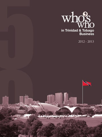 Who S Who In Trinidad Amp Tobago Business 2013 By Prestige