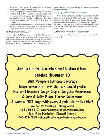 Doberman Pinscher Magazine Oct 2012 Ads by McGuire Magazines