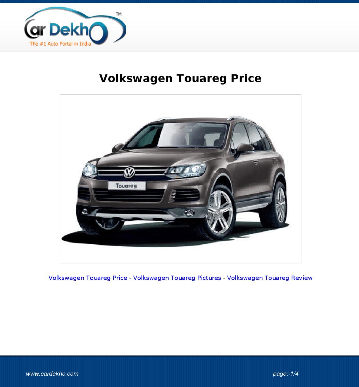 Volkswagentouaregprice21sep2012 By Archana Sharma