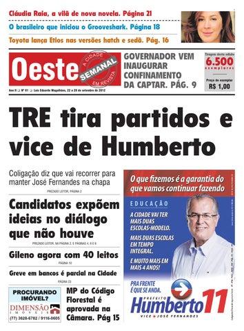 862d6ae5576f4 Oeste Semanal Edição 81 by Diario do Oeste - issuu