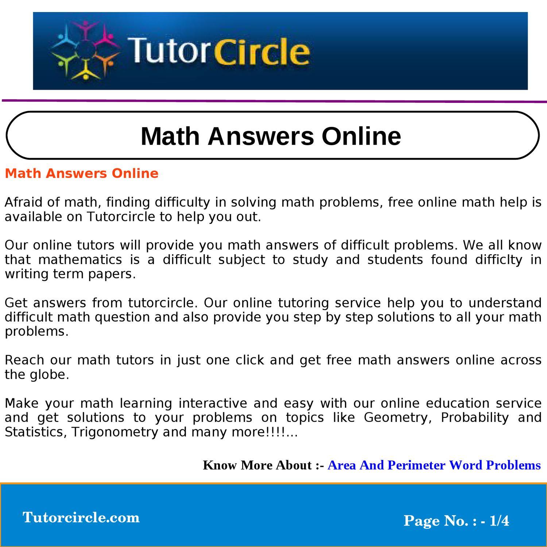 Math help answers ray bradbury essays
