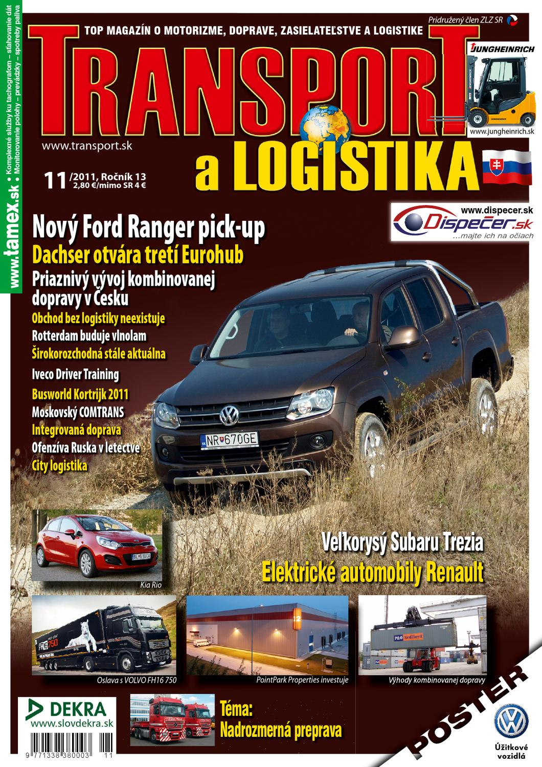 TRANSPORT a LOGISTIKA 11 2011 (SK) by Rasto Bujna - issuu 891f3977be3