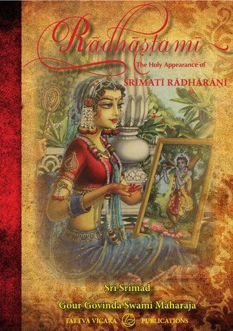 Radhastami - The Appearance of Srimati Radharani by Tattva Vicara