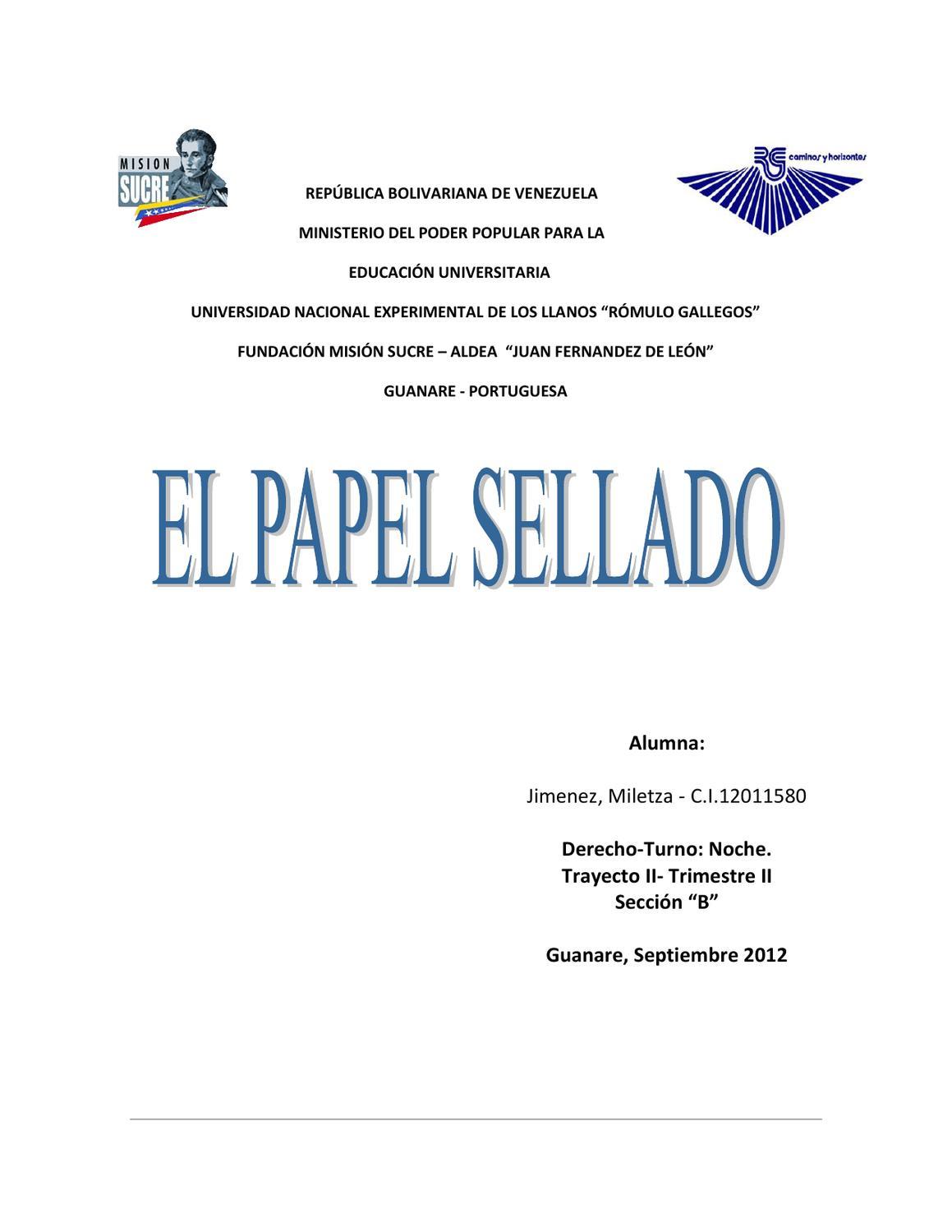 papel sellado by miletza jimenez issuu