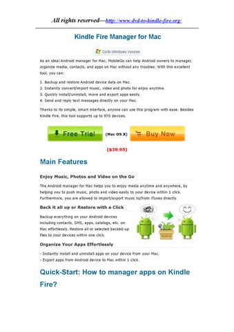 Kindle Fire(HD) Manager for Mac OS X by katrina Jin - issuu