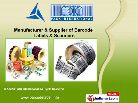 65b03a79 IndiaMART.com SuppliersBarcode Labels & Scanners by Abcon Pack  International, New Delhi